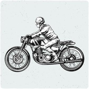 Biker en moto