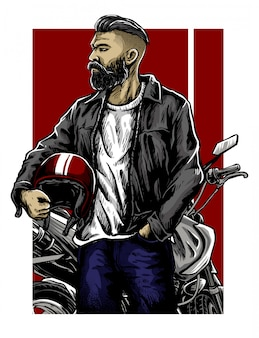 Bikers life vector design