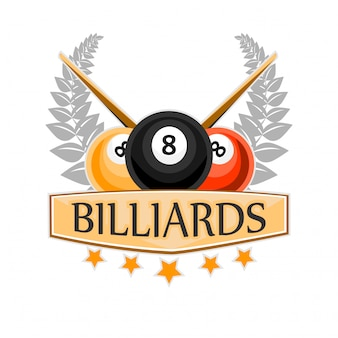Billar billar y snooker sport icon.