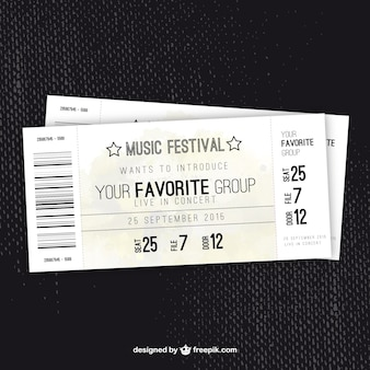 Billete festival de música