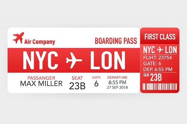 Billetes de avión o tarjeta de embarque dentro del sobre de servicio especial.