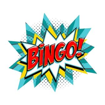 Bingo - bandera de vector turquesa de lotería