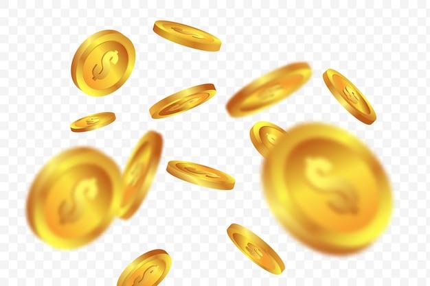 Bingo de bingo con monedas de oro