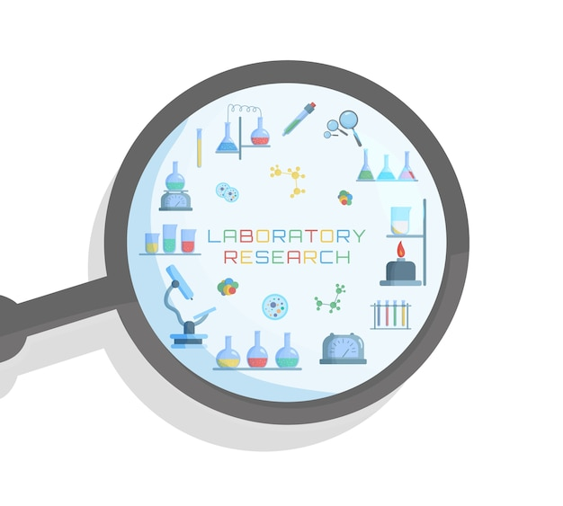 Biología de laboratorio químico de ciencia y tecnología.