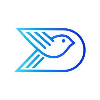 Bird letter d initial logo