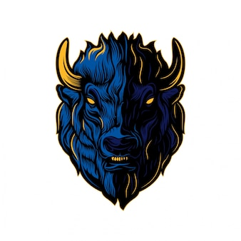 Bison head creative