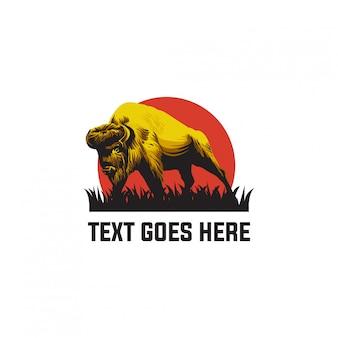 Bison logo animal