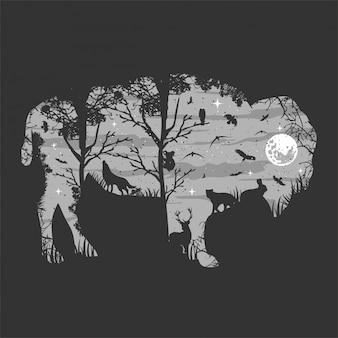 Bisonte salvaje