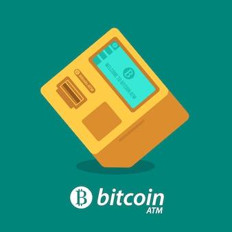 Bitcoin cyptocurrency money atm o máquina bitcoin