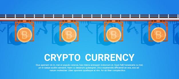 Bitcoin mining modern crypto currency networking tecnología digital web money concept