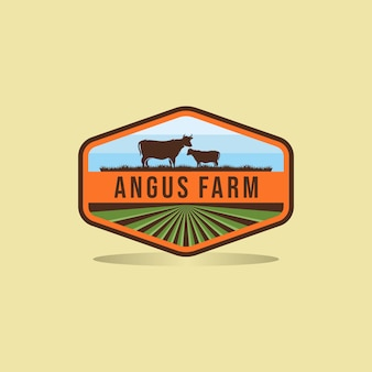 Black angus logo design