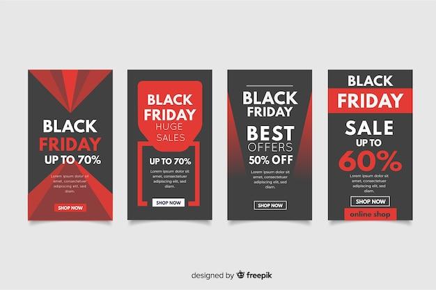 Black friday colección de historias de instagram