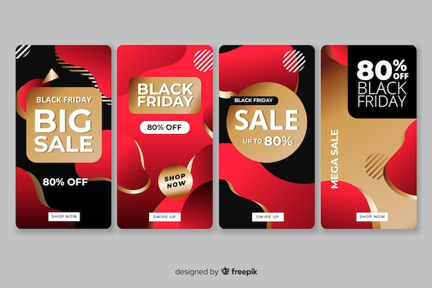 Black friday colección de historias de instagram