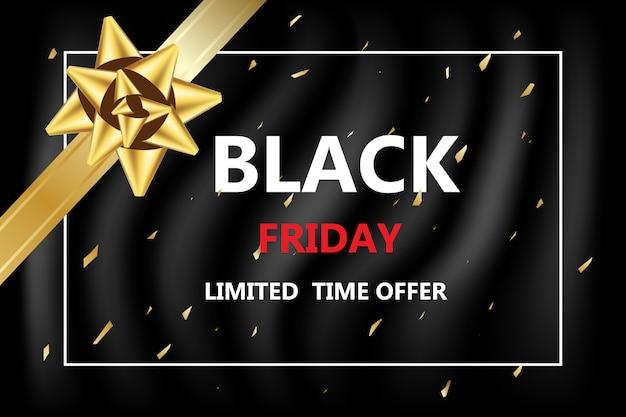 Black friday con descuento para compras en línea banner en venta