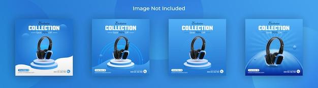 Black friday gadget collection, publicación en redes sociales, banner de instagram y banner web vector premium