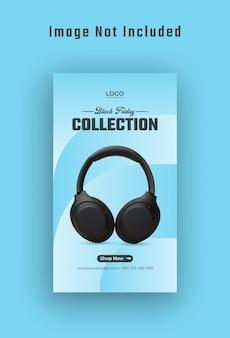 Black friday gadget sale historia de instagram y banner web vector premium