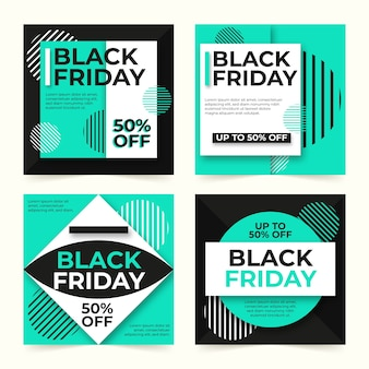 Black friday instagram post collection