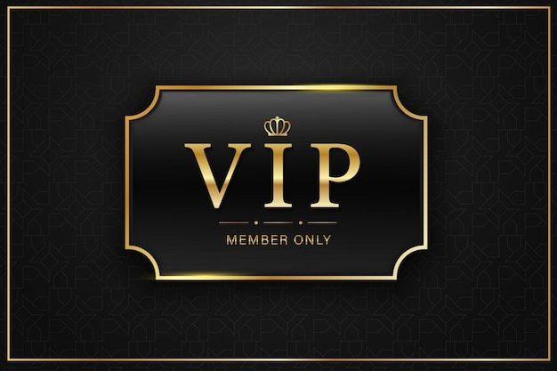 Black vip card golden label