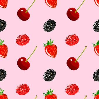 Blackberry, cherry, redberry y fresa fruta comida saludable orgánica fresca