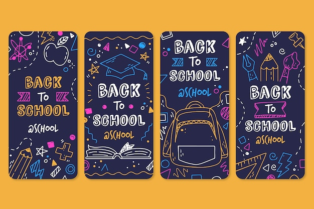 Blackboard back to school historias de instagram
