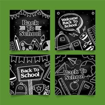 Blackboard back to school instagram post collection