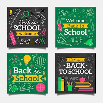 Blackboard back to school instagram posts collection