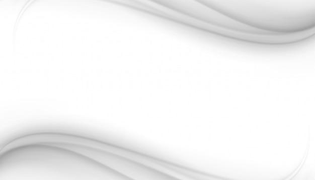 Blanco elegante con diseño de onda que fluye gris