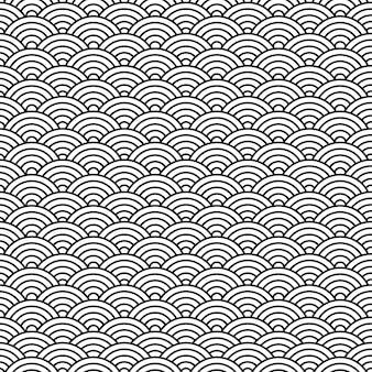 Blanco y negro oriental chino de patrones sin fisuras.