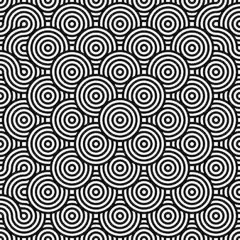 Blanco y negro con textura de fondo transparente. repetir círculo redondo
