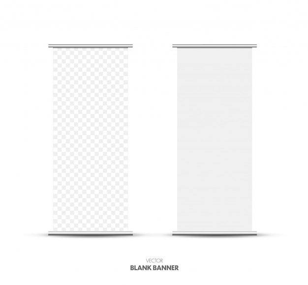 En blanco roll up stand banner.