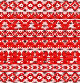 Blanco tejido en diseño de fondo rojo para el evento de navidad.