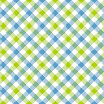 Blanco verde azul cuadros cuadros tela textura de patrones sin fisuras