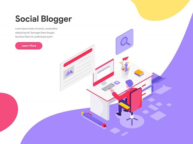 Blog escritor ilustración conceptual