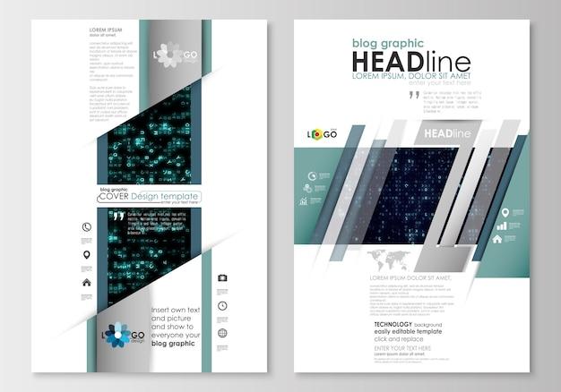 Blog de plantillas gráficas de negocios. plantilla de diseño de página web. realidad virtual