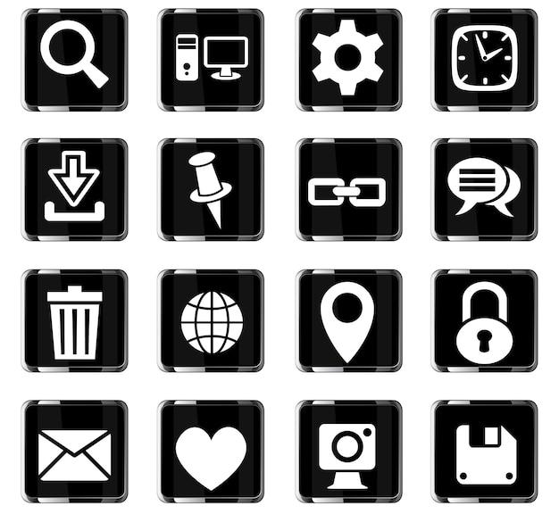 Blog web iconos para el diseño de la interfaz de usuario