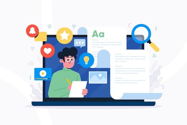 Blogging concepto de redes sociales