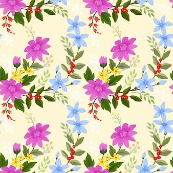 Blooming flores de fondo sin fisuras patrón de fondo de pantalla.