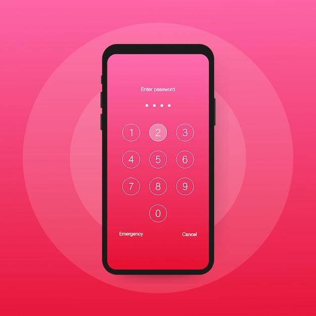 Bloqueo de pantalla autenticación contraseña teléfono inteligente