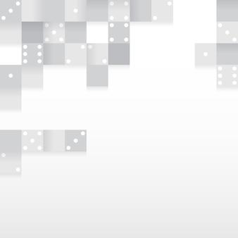 Bloques grises en vector de fondo blanco en blanco