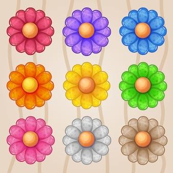 Blossom botanica gradiente logo icono.