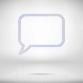 Bocadillo de diálogo abstracto blanco en el fondo interior