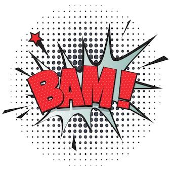 Bocadillo de diálogo cómico de bam en estilo pop art