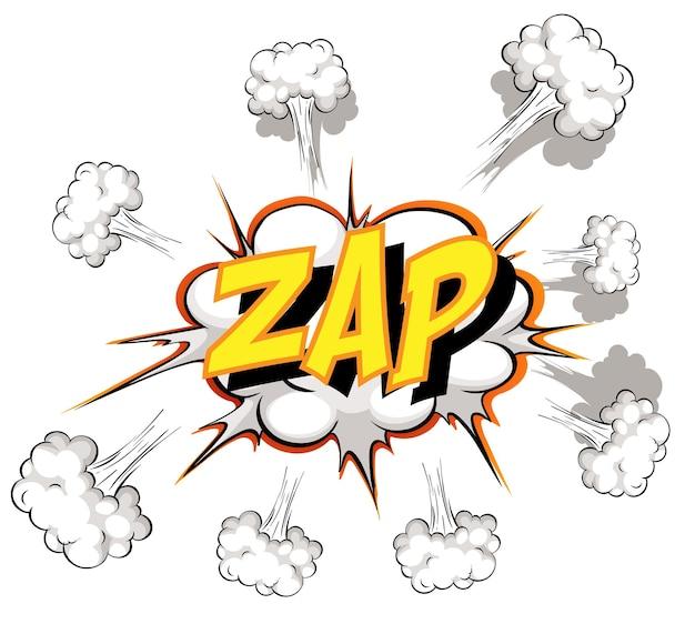Bocadillo de diálogo cómico con texto zap