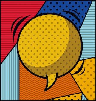Bocadillo de diálogo estilo de arte pop ilustración vectorial