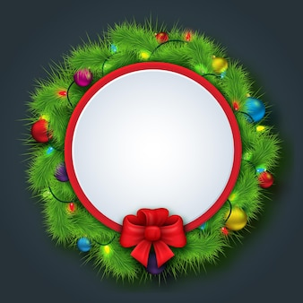 Bocadillo de diálogo de feliz navidad y año nuevo con espacio para texto