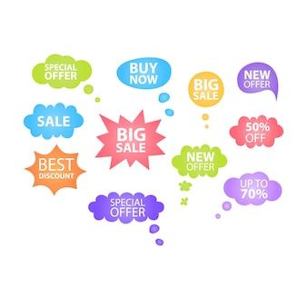 Bocadillo de diálogo de oferta especial banner de oferta especial para negocios, promoción y publicidad