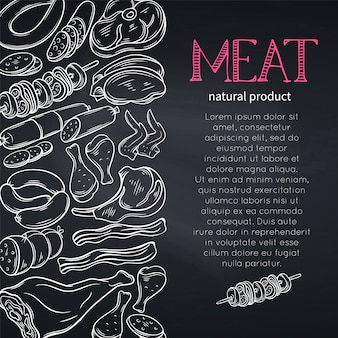 Boceto de carne gastronómica