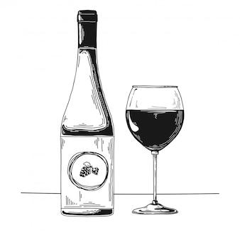 Boceto de cerveza dibujado a mano