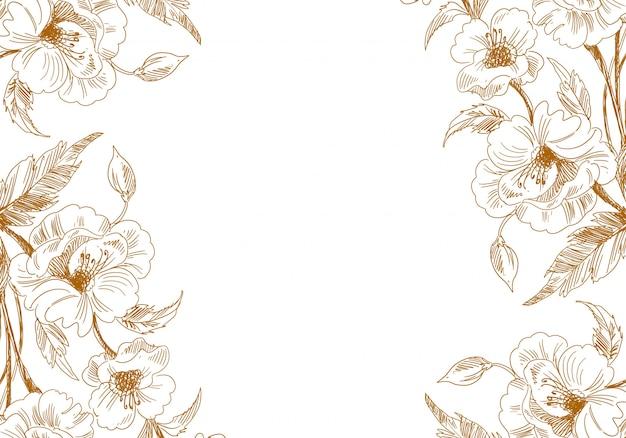 Boceto decorativo vintage artístico boda fondo floral