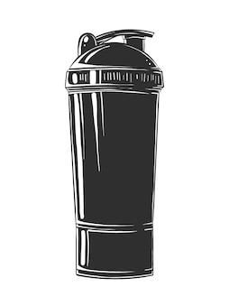 Boceto dibujado a mano de la botella de la coctelera